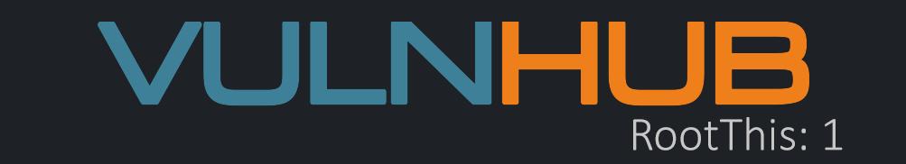 Vulnhub: RootThis 1